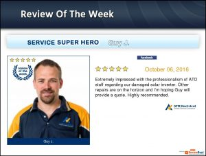Electrician Wollongong Customer Review - Jose Manzano: Special thanks to Guy for prompt attending this urgent call in such a bad weather, very professional, friendly and helpful. I won't hesitate to recommended to any other people or business in need of any electrical work. All in No. 3 working good as if nothing has happened, thanks again.